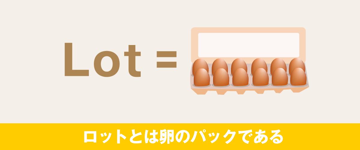 ロットとは卵のパックである